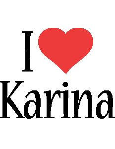 Karina i-love logo