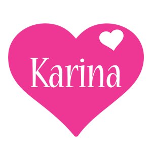 Karina love-heart logo