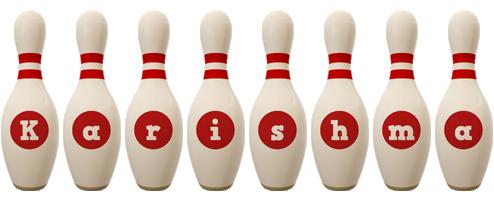 Karishma bowling-pin logo