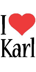Karl i-love logo