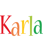 Karla birthday logo