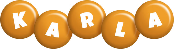Karla candy-orange logo