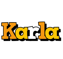 Karla cartoon logo