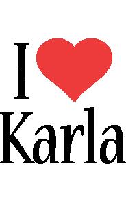 Karla i-love logo