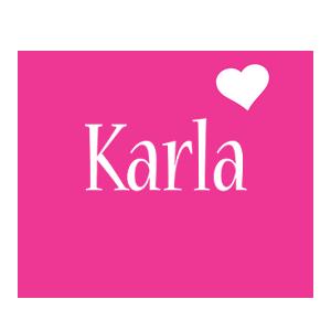 Karla love-heart logo