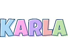Karla pastel logo
