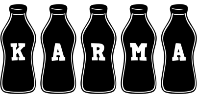 Karma bottle logo