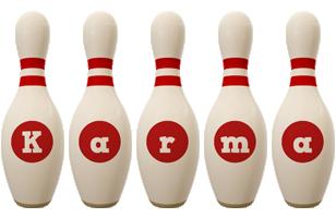 Karma bowling-pin logo