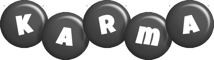 Karma candy-black logo