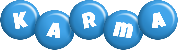 Karma candy-blue logo