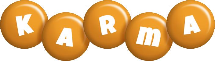 Karma candy-orange logo