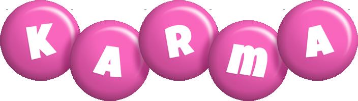 Karma candy-pink logo