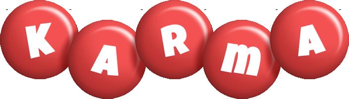 Karma candy-red logo