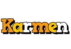 Karmen cartoon logo