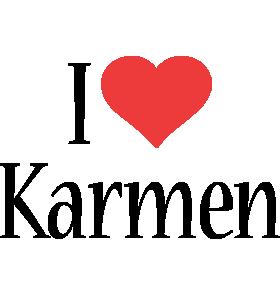 Karmen i-love logo