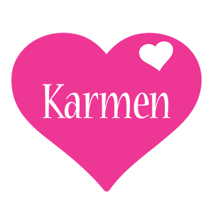 Karmen love-heart logo