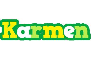 Karmen soccer logo