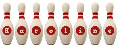 Karoline bowling-pin logo