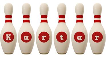 Kartar bowling-pin logo