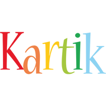 Kartik birthday logo