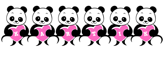 Kartik love-panda logo