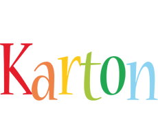 Karton birthday logo