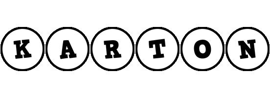 Karton handy logo