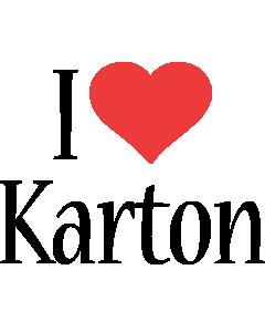 Karton i-love logo