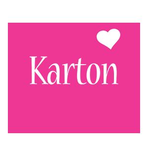 Karton love-heart logo