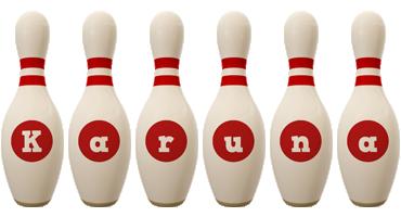 Karuna bowling-pin logo