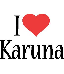 Karuna i-love logo