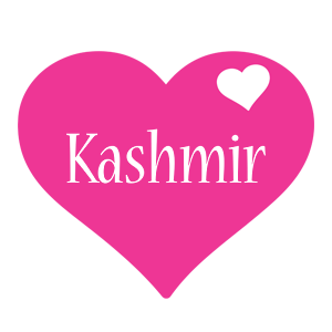 Kashmir love-heart logo