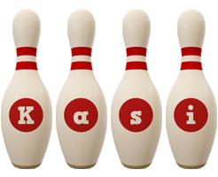 Kasi bowling-pin logo