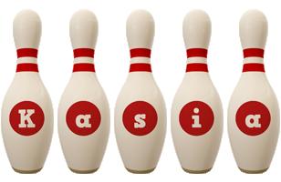 Kasia bowling-pin logo