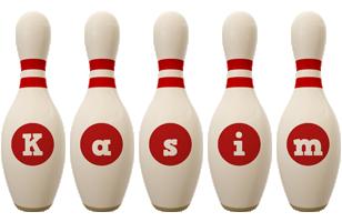 Kasim bowling-pin logo