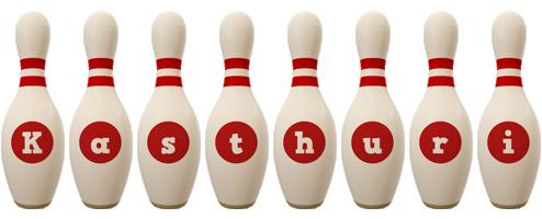 Kasthuri bowling-pin logo