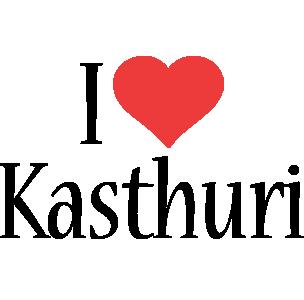 Kasthuri i-love logo