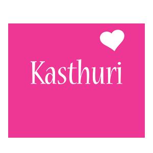 Kasthuri love-heart logo