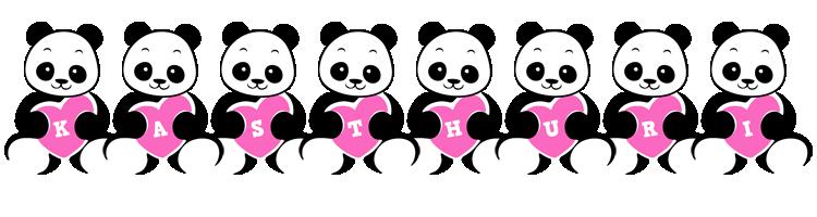 Kasthuri love-panda logo