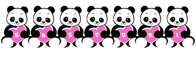 Kasturi love-panda logo