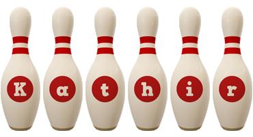 Kathir bowling-pin logo