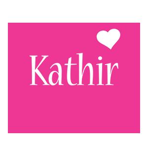 Kathir love-heart logo