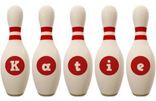 Katie bowling-pin logo