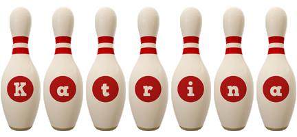 Katrina bowling-pin logo