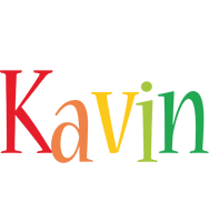 Kavin birthday logo