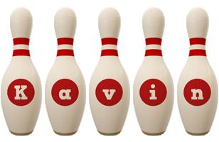 Kavin bowling-pin logo