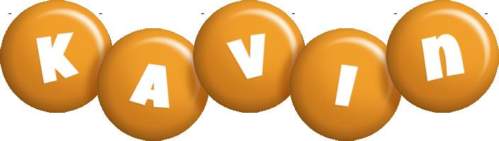 Kavin candy-orange logo