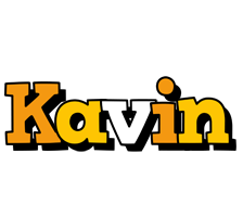 Kavin cartoon logo
