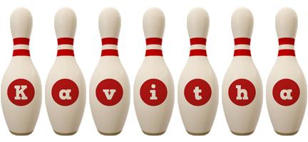 Kavitha bowling-pin logo