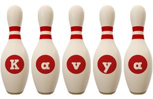 Kavya bowling-pin logo